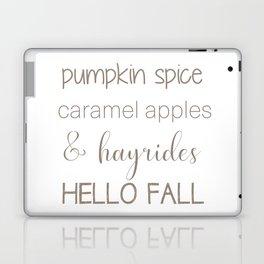 Words of Fall Laptop & iPad Skin