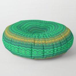 Green Boho Mandala Floor Pillow