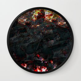 burnt ice Wall Clock