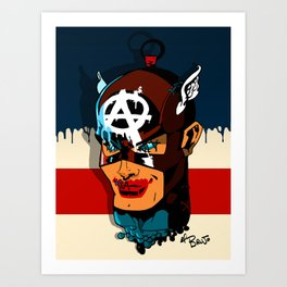 Captain Anarchy Art Print
