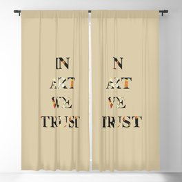 In art we trust, for art lovers Blackout Curtain
