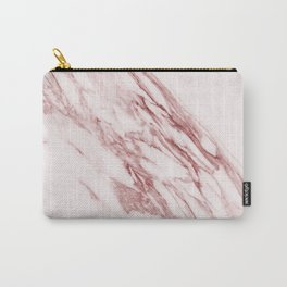 Deep rose pink marble Carry-All Pouch
