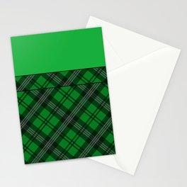 Scottish Plaid (Tartan) - Green Stationery Cards