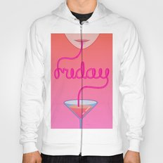 friday cocktail lettering Hoody