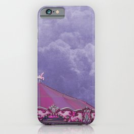 Pink and Purple Merry Go Round on Purple iPhone Case