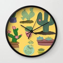 Desert Plants Wall Clock