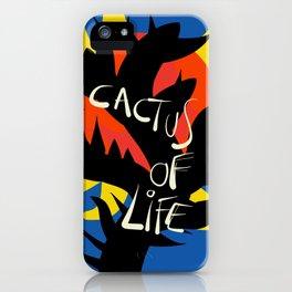 Cactus of Life Graffiti Street Abstract Art iPhone Case