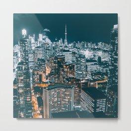 Toronto by night - City at night Metal Print