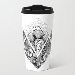 Geometric Nature Travel Mug