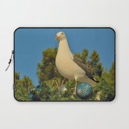 Seagulls Love Christmas Too! by Reay of Light Laptop Sleeve