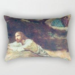 Jesus at Gethsemane Rectangular Pillow
