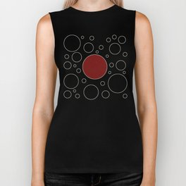 """""""Abstract Japanese Cow"""" Biker Tank"""