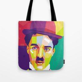 Charlie Chaplin Pop Art WPAP Tote Bag
