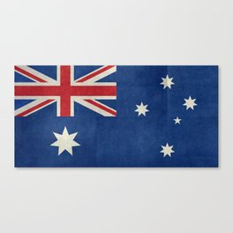 "Australian flag, retro ""folded"" textured version (authentic scale 1:2) Canvas Print"