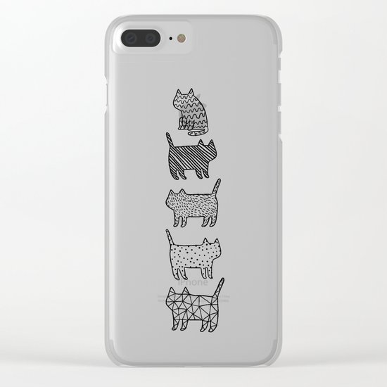 Pattern cats Clear iPhone Case