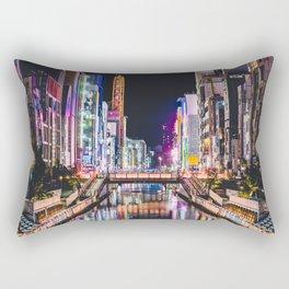 Tokyo Nightlife Rectangular Pillow