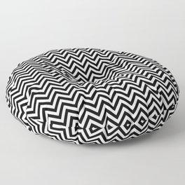 Black and White Chevron Floor Pillow