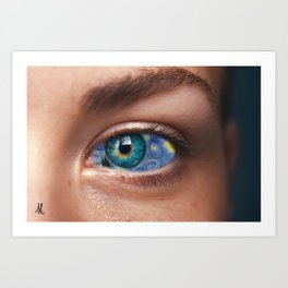 Art In Your Eyes Art Print