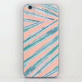 palm leaf coral iPhone Skin
