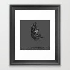 Floating Viking Framed Art Print