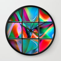 data Wall Clocks featuring big data strategy puzzle by donphil