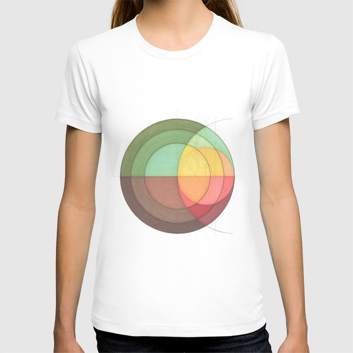 Concentric Circles Forming Equal Areas T-shirt