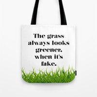 grass Tote Bags featuring GRASS by C O R N E L L