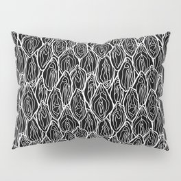 Vagina - Rama, Black with white outlines Pillow Sham