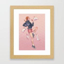 Signe du Lapin Framed Art Print
