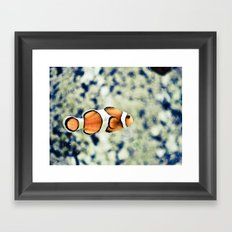 Just Keep Swimming Framed Art Print