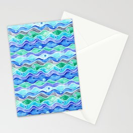Ocean Pattern - Dolphin Stationery Cards