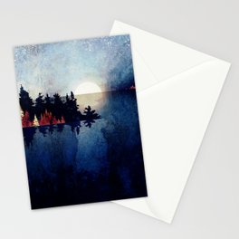 Autumn Moon Reflection Stationery Cards