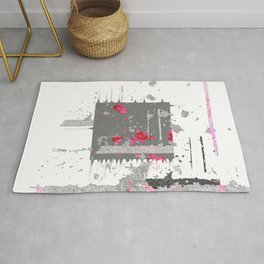 Chaos and Reverence Contemporary Abstract NO. 1 Rug