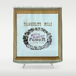 flour power: tranquility mills Shower Curtain