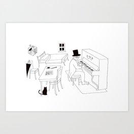 Erik Satie Art Print