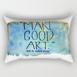Neil Gaiman Wisdom Rectangular Pillow