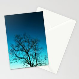 The tree dry Stationery Cards