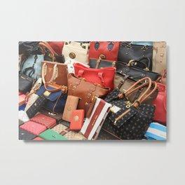 Women's Designer Handbags Metal Print