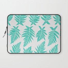 Inked Ferns – Turquoise Palette Laptop Sleeve