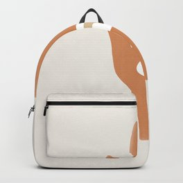 Hamsa Rainbow Hand | Burnt Orange Backpack