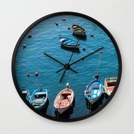 Docked Boats Wall Clock