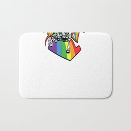 The Rainbow Connection Bath Mat