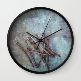 a bunch of nails Wall Clock