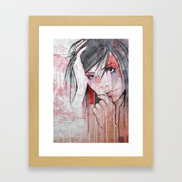 My Colours Are Starting To Run Framed Art Print