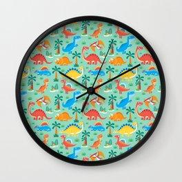 Dinos Green Wall Clock
