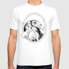 Mr. Vulture White Mens Fitted Tee SMALL