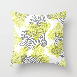Ulu Forest Green and Grey Throw Pillow