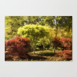 A Walk In The Woods Painting Canvas Print