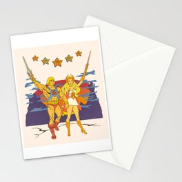 Shera and her brother union Stationery Cards