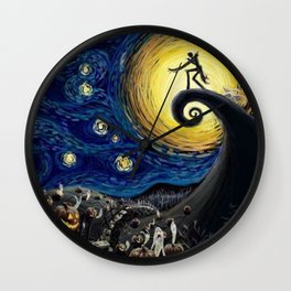 Starry (Nightmare Before Christmas) Night Wall Clock